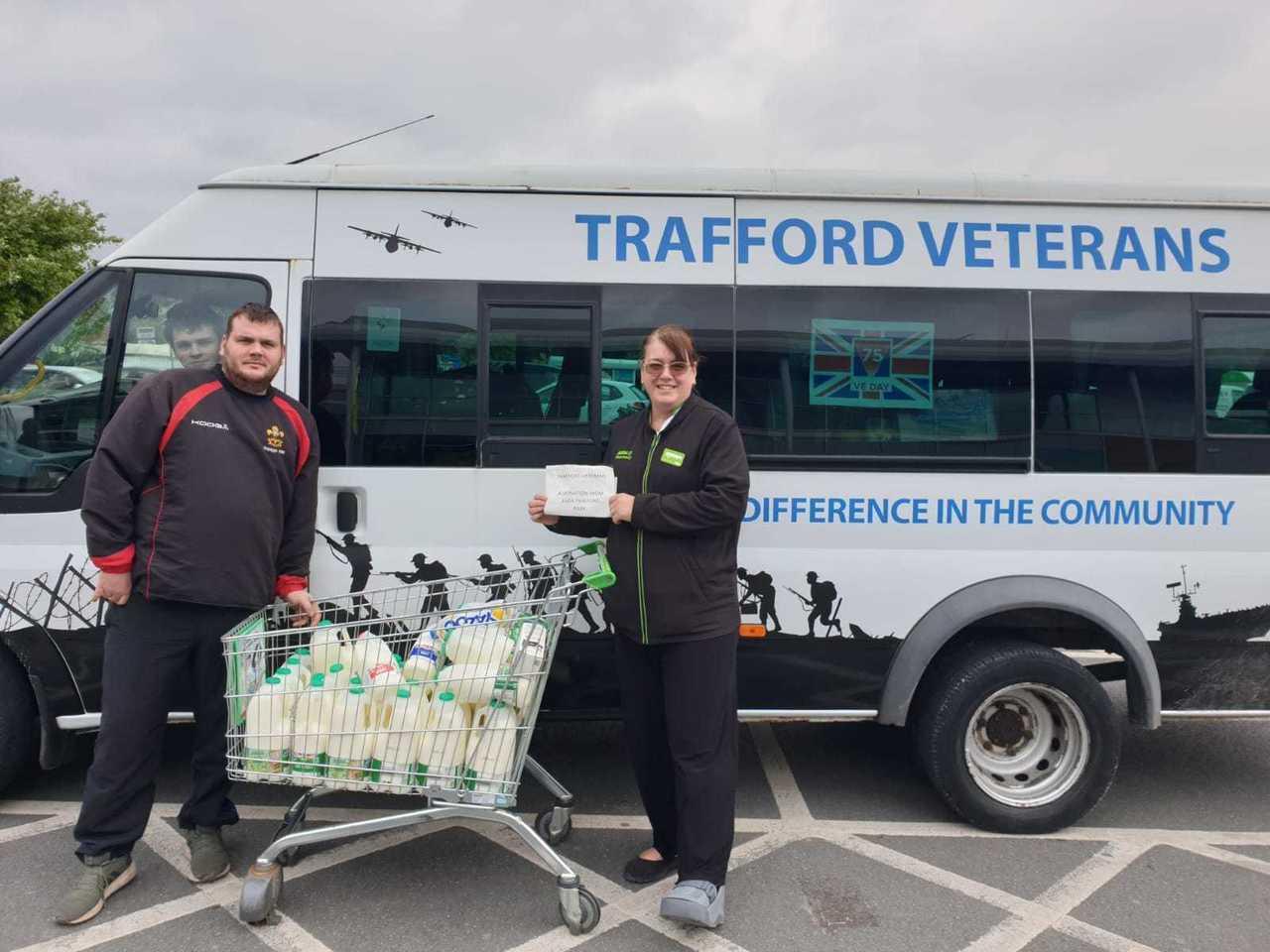 Donation to Trafford Veterans | Asda Trafford Park