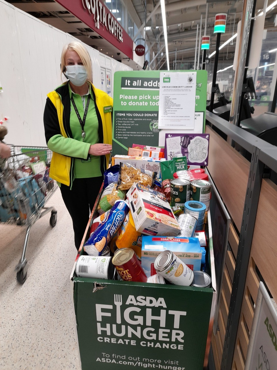 Food larder support | Asda Lincoln North Hykeham