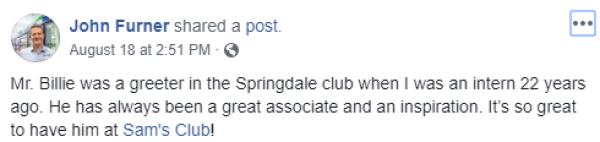 Living Springdale Facebook Post