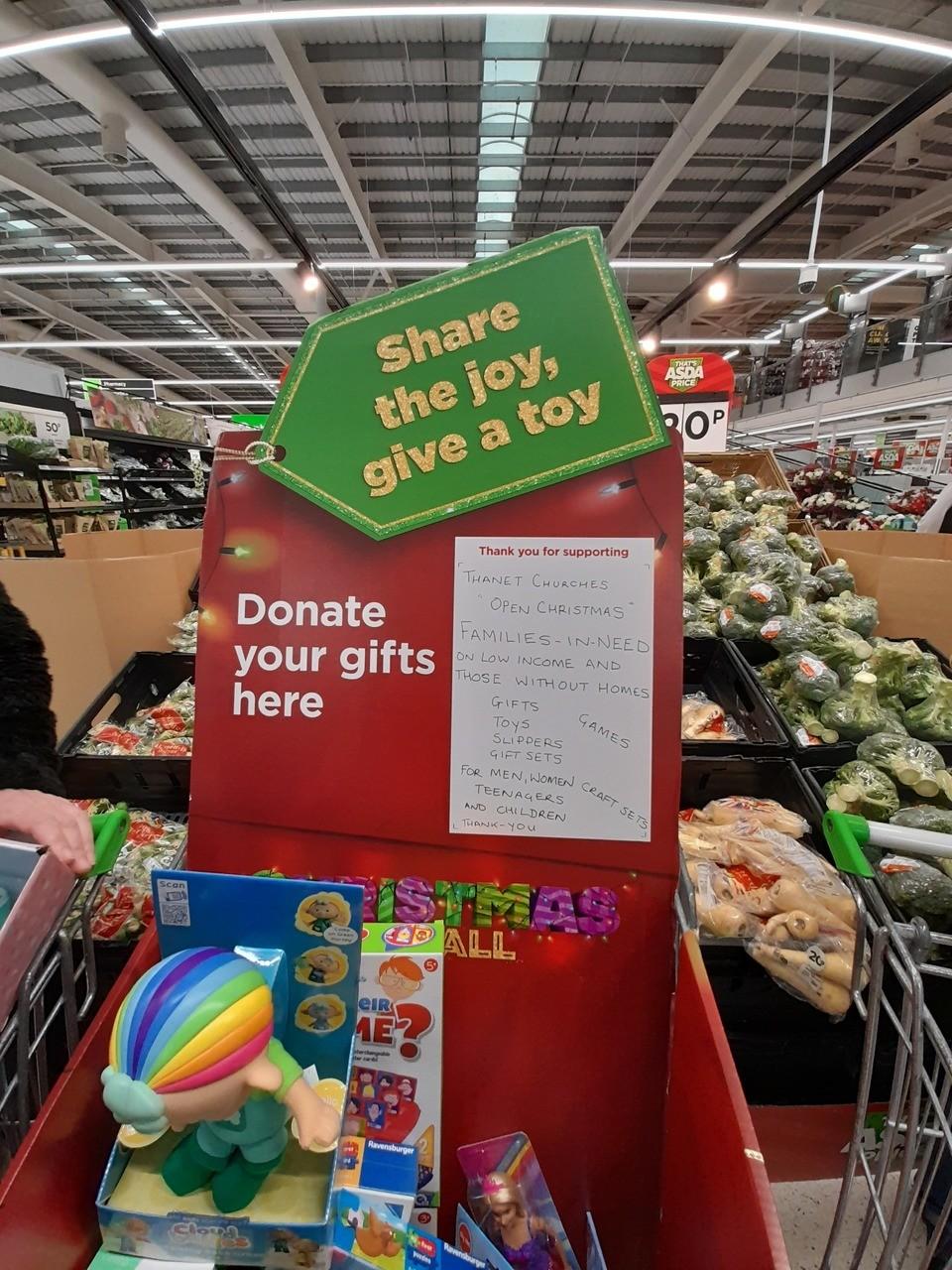 Gift donation trolleys | Asda Broadstairs