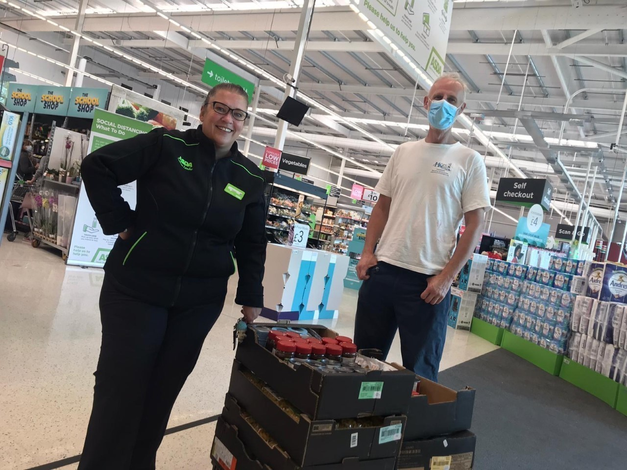 Fight Hunger donation to Whitehead Storehouse | Asda Larne
