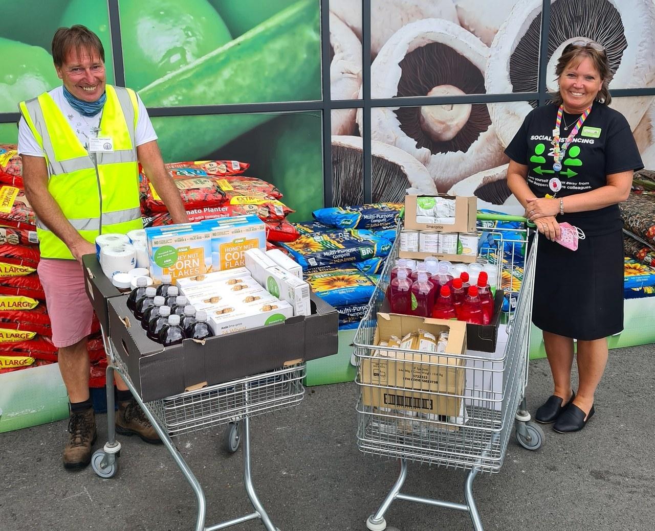 Ventnor Community Foodbank donation | Asda Newport Isle of Wight