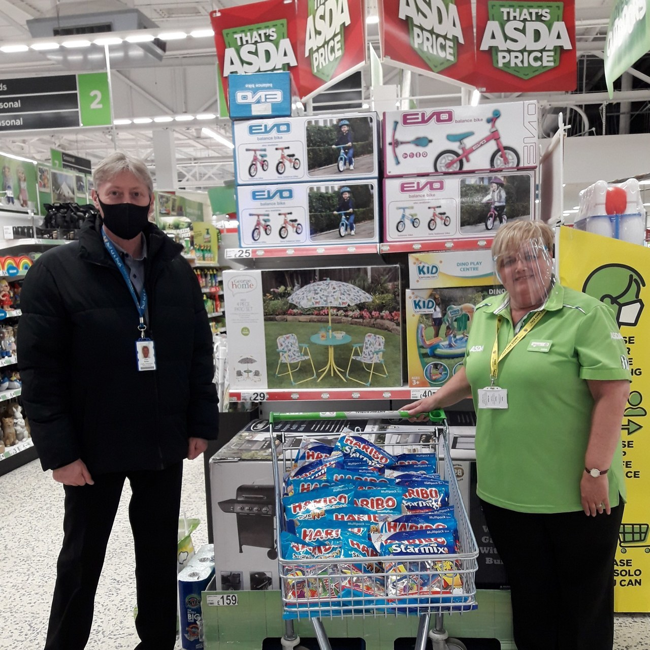 Supporting a local cancer charity   Asda Gosforth