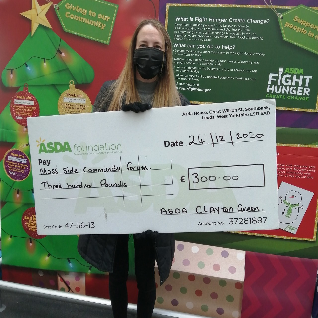 Grant for Moss Side Community Forum  | Asda Clayton Green