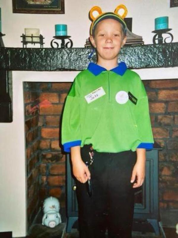 Joss Evans from Asda Caerphilly when he was seven