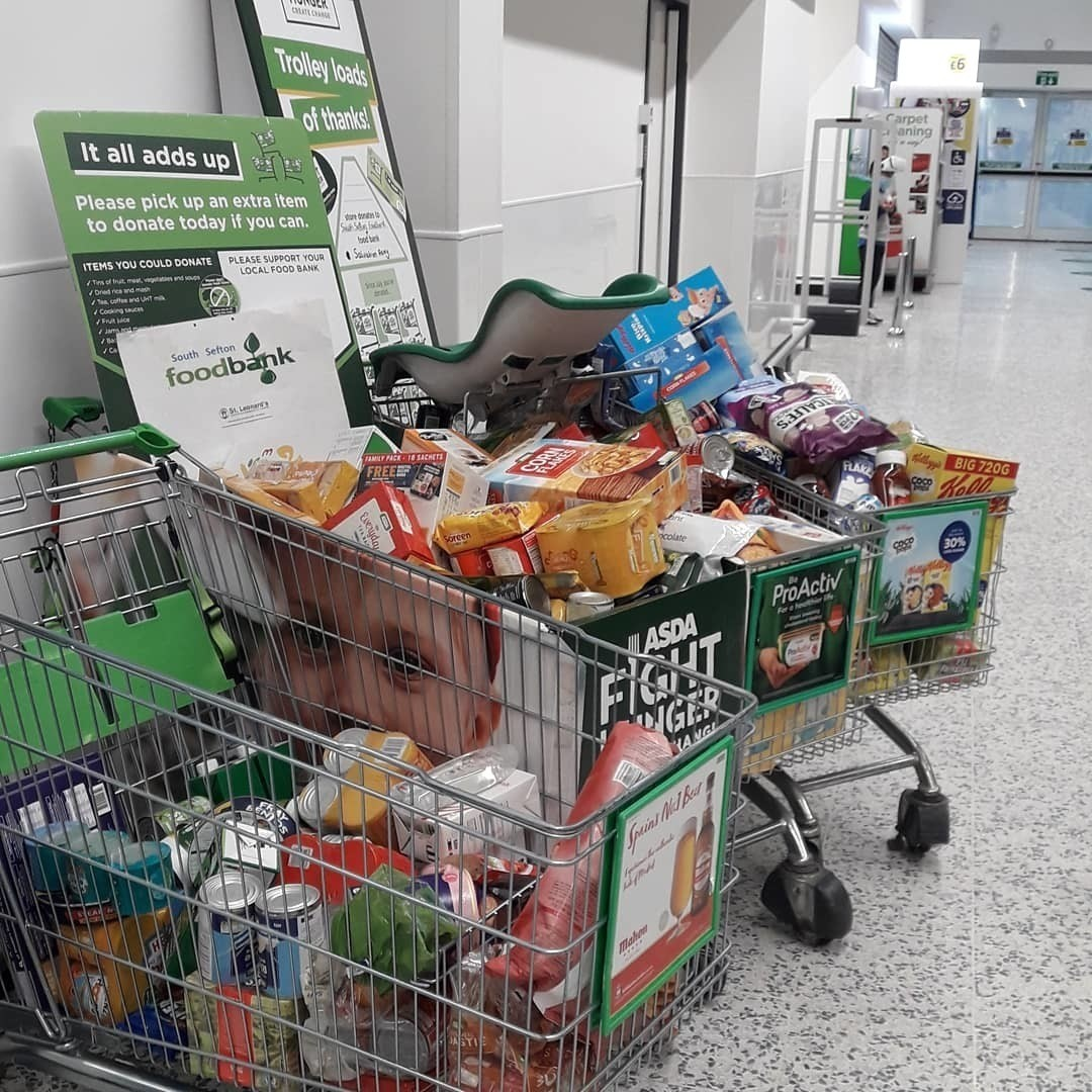 Foodbank donation | Asda Aintree