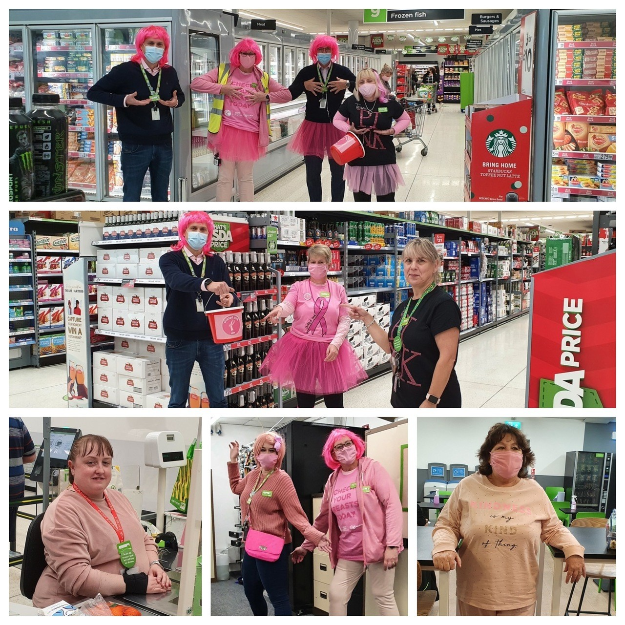 Colleagues show their support for Tickled Pink | Asda Greenhithe