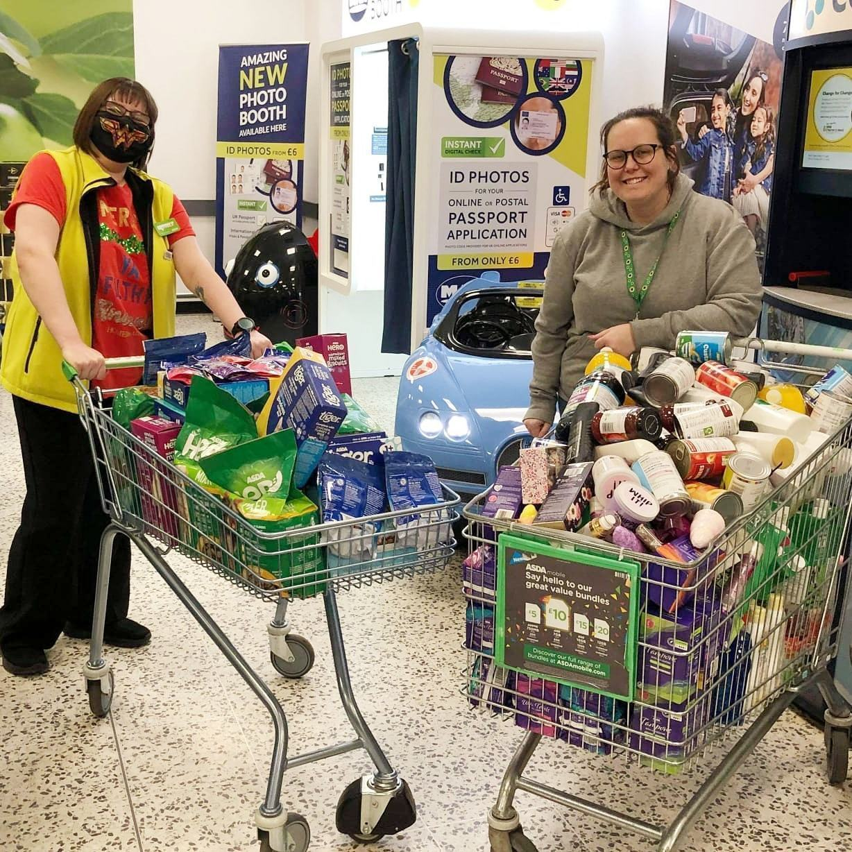 Colleagues support local food bank | Asda Gosforth
