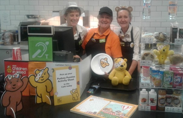 Asda Warrington supporting BBC Children in Need
