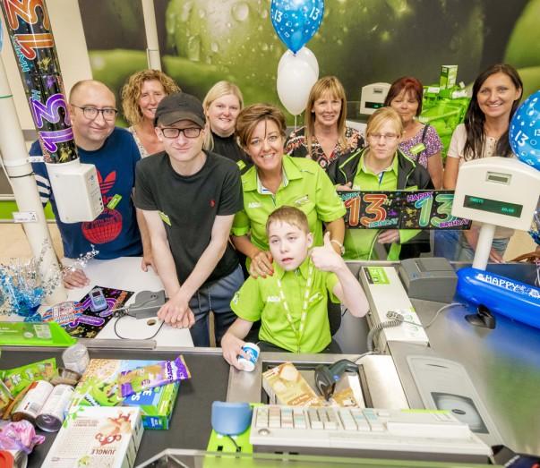 Birthday treat for Owen Porter at Asda Sutton in Ashfield