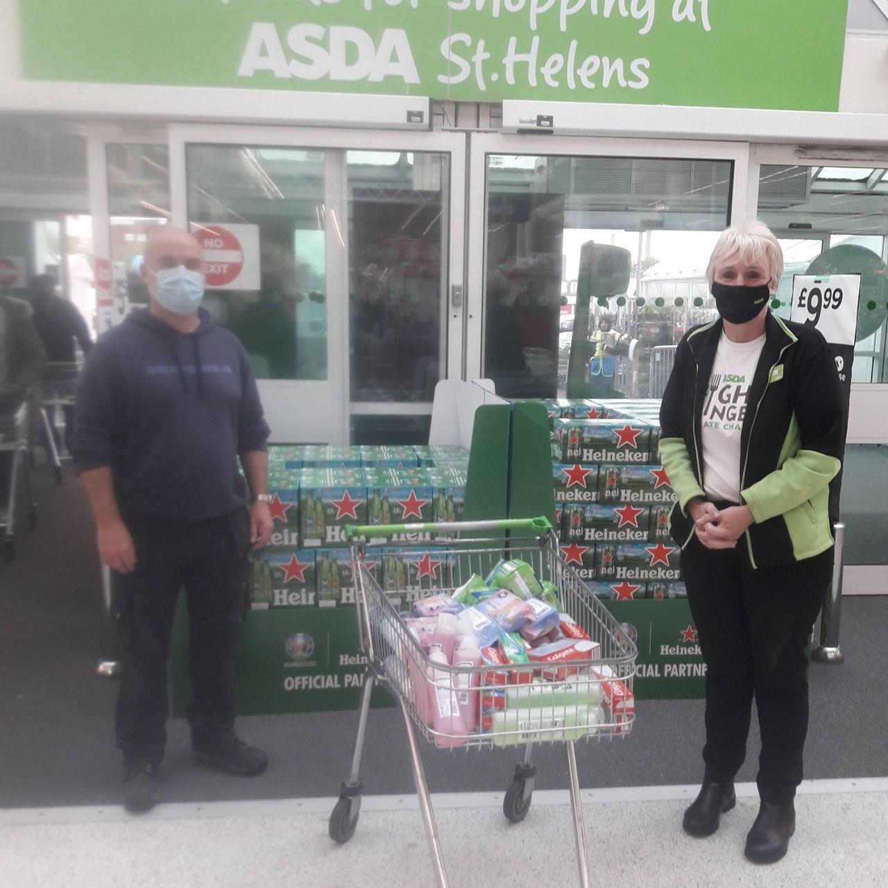 Asda St Helen's donates.......     Asda St Helens