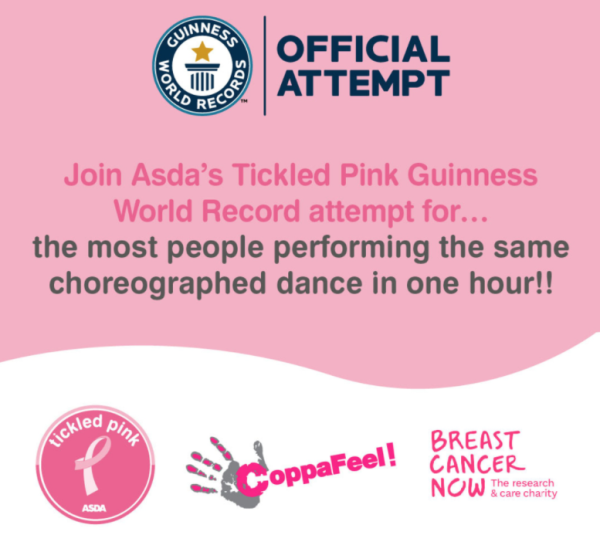 Asda Tickled Pink Guinness World Record official attempt