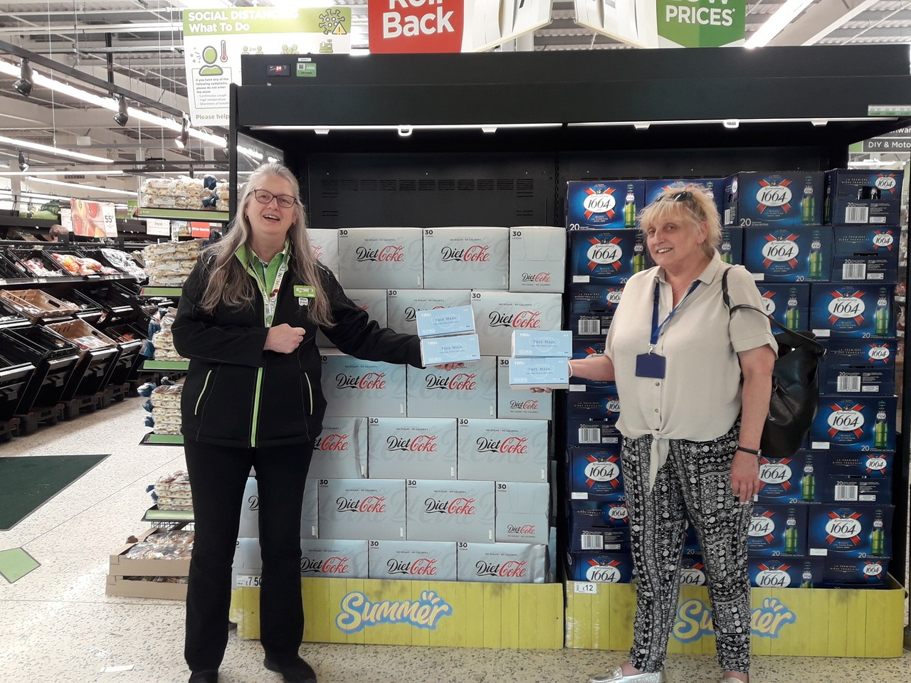 Face mask donation  | Asda Gillingham Pier