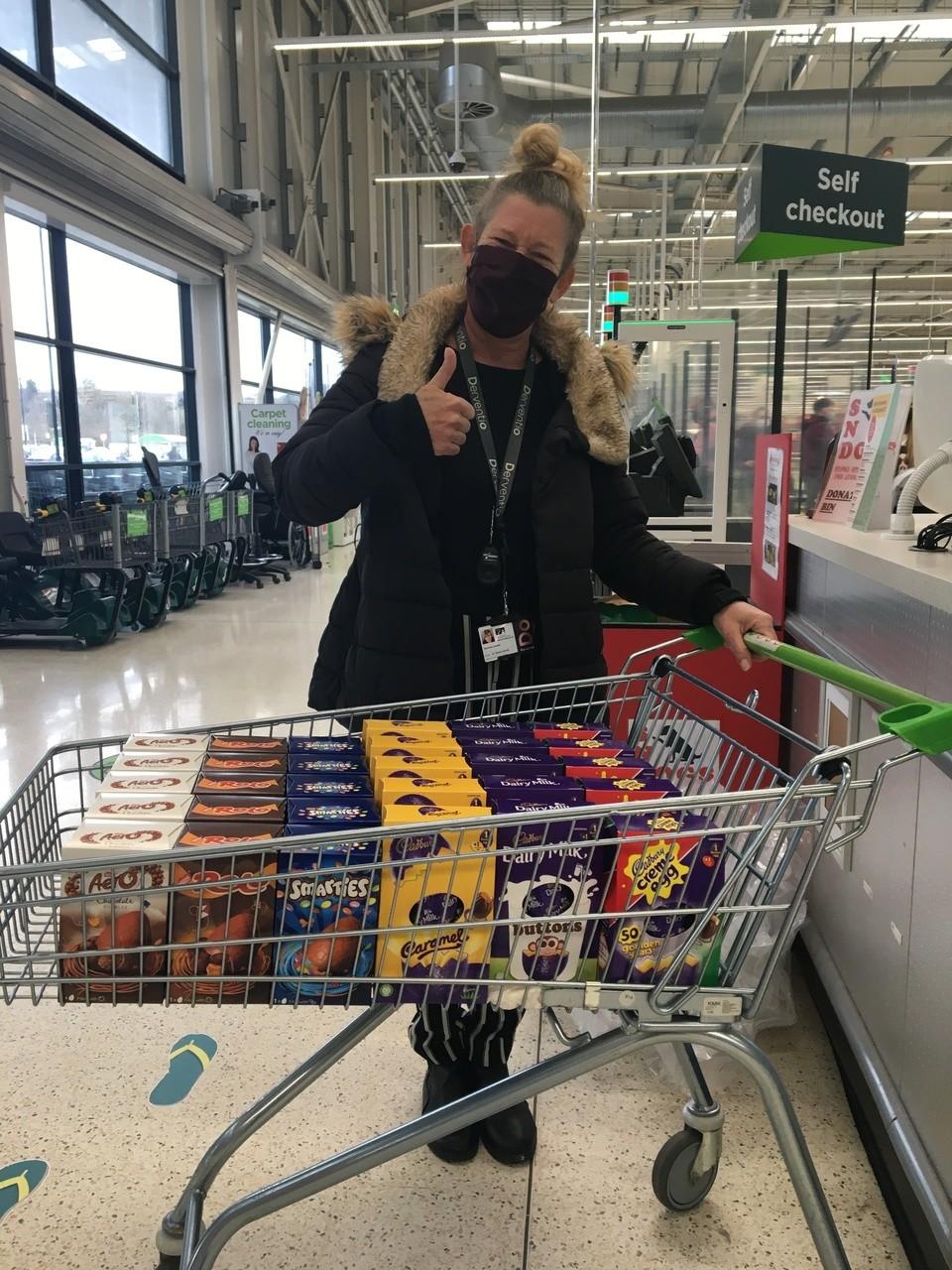 Donation of Easter Eggs | Asda Swindon Haydon