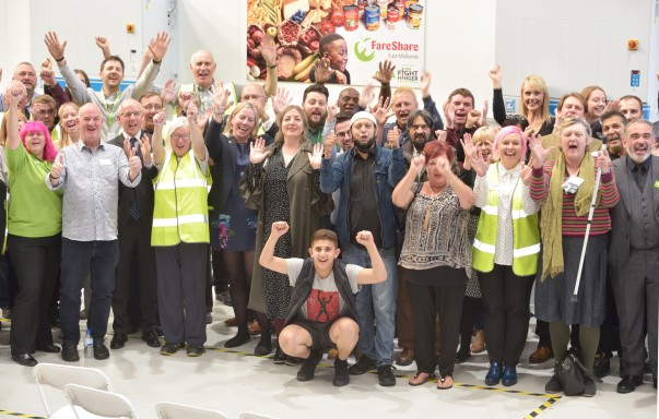 A new FareShare East Midlands depot opened thanks to the Asda Fight Hunger Create Change programme