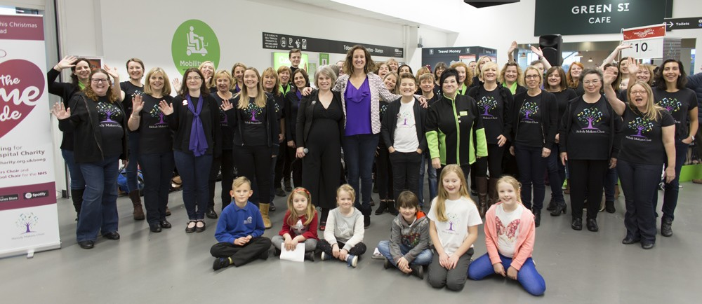Melody Makers Choir and Horfield Primary School Choir singing at Asda Patchway