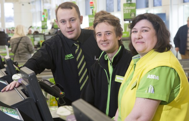 Asda Chatham colleague Joe with colleagues