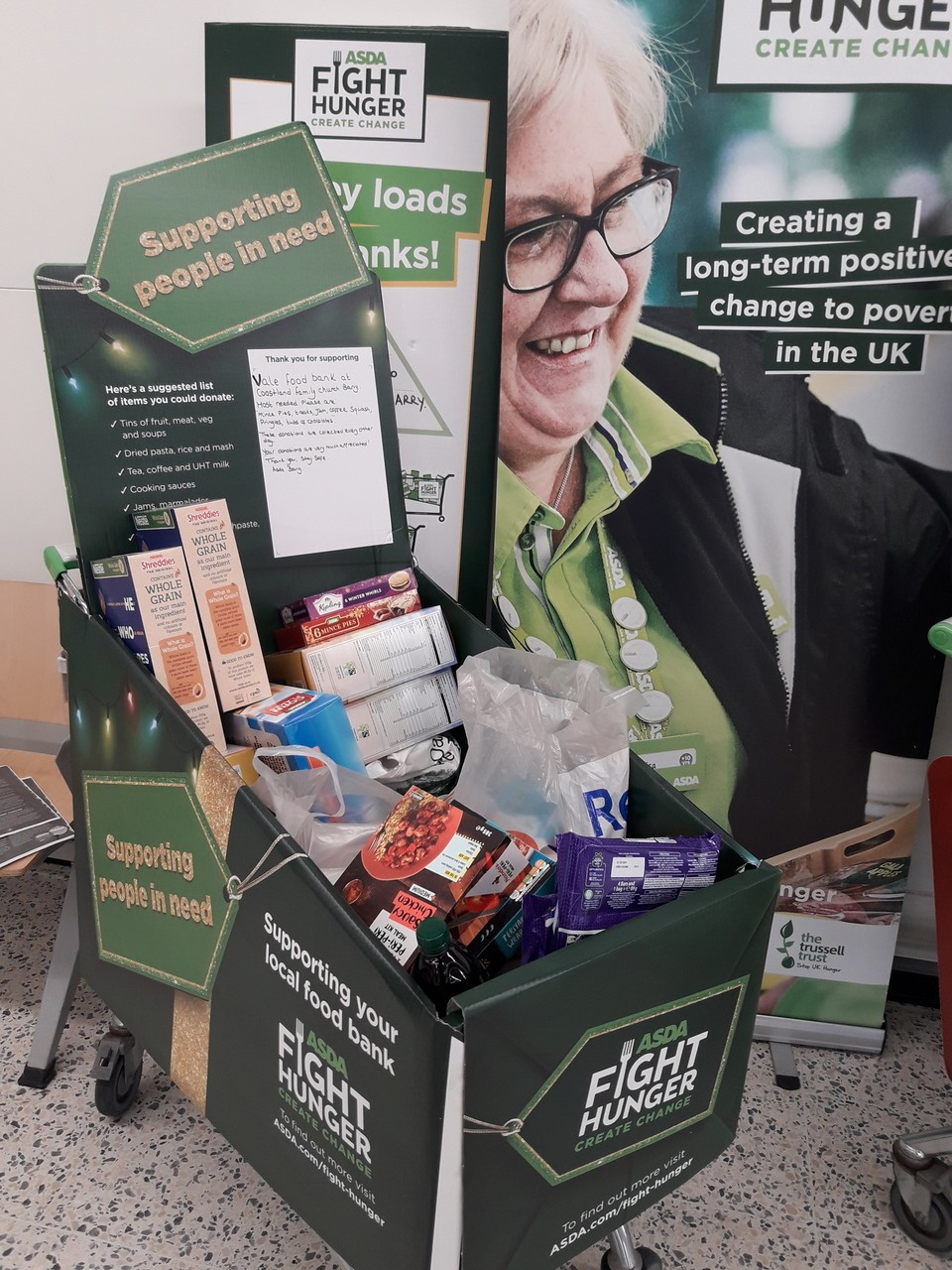 Food bank donations  | Asda Barry
