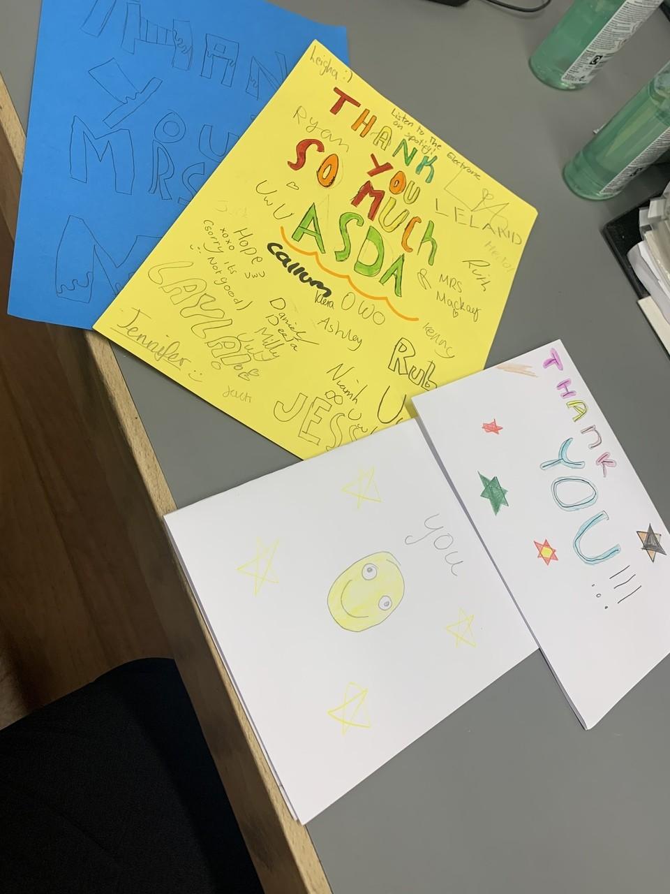 Thank you cards | Asda Tain