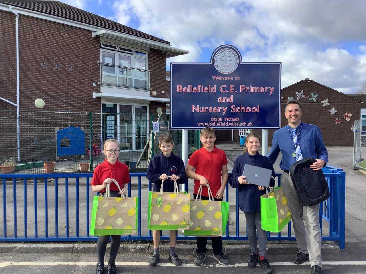 Bellefield School delighted to receive their laptop donation | Asda Trowbridge