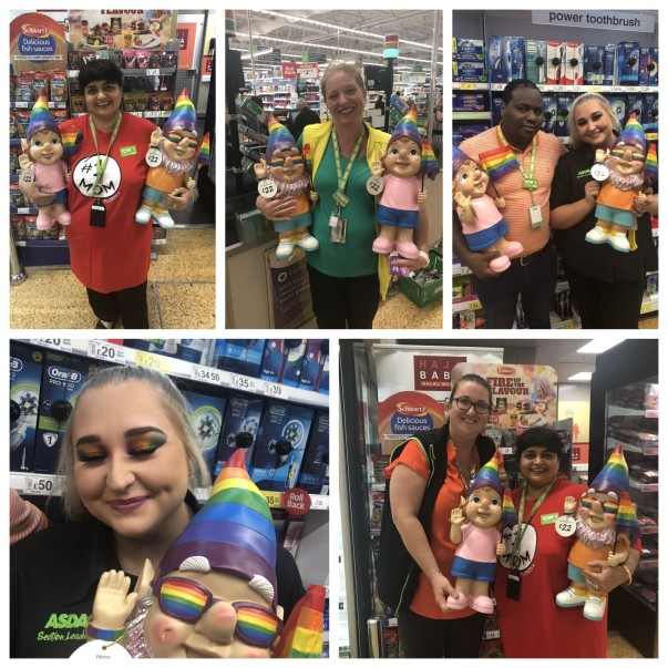 Supporting Pride at Asda Charlton