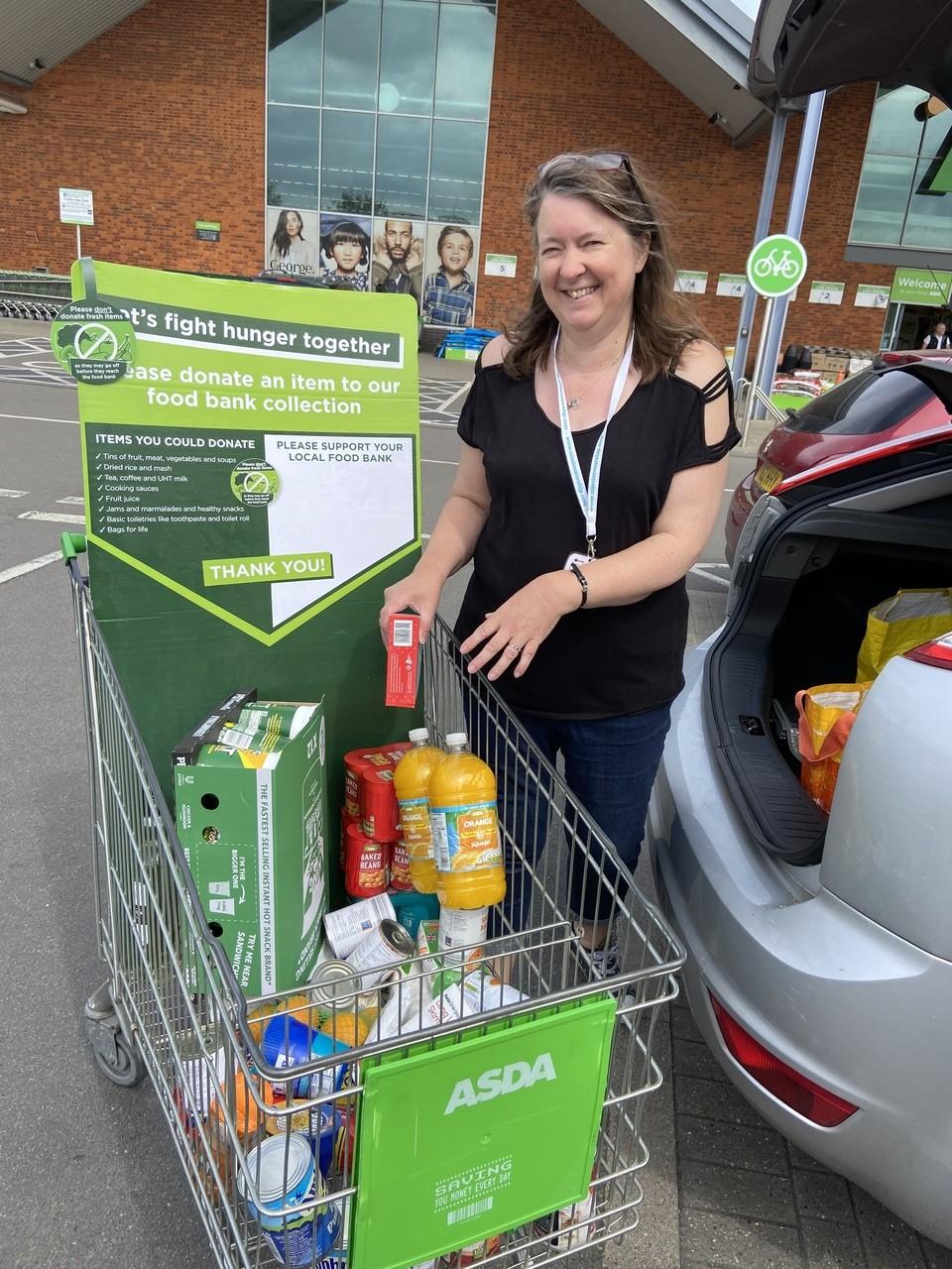 Food bank donation | Asda Biggleswade