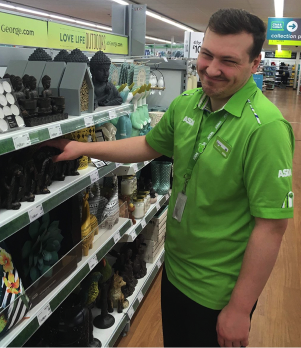 Asda Living Hull colleague Adam Pinder
