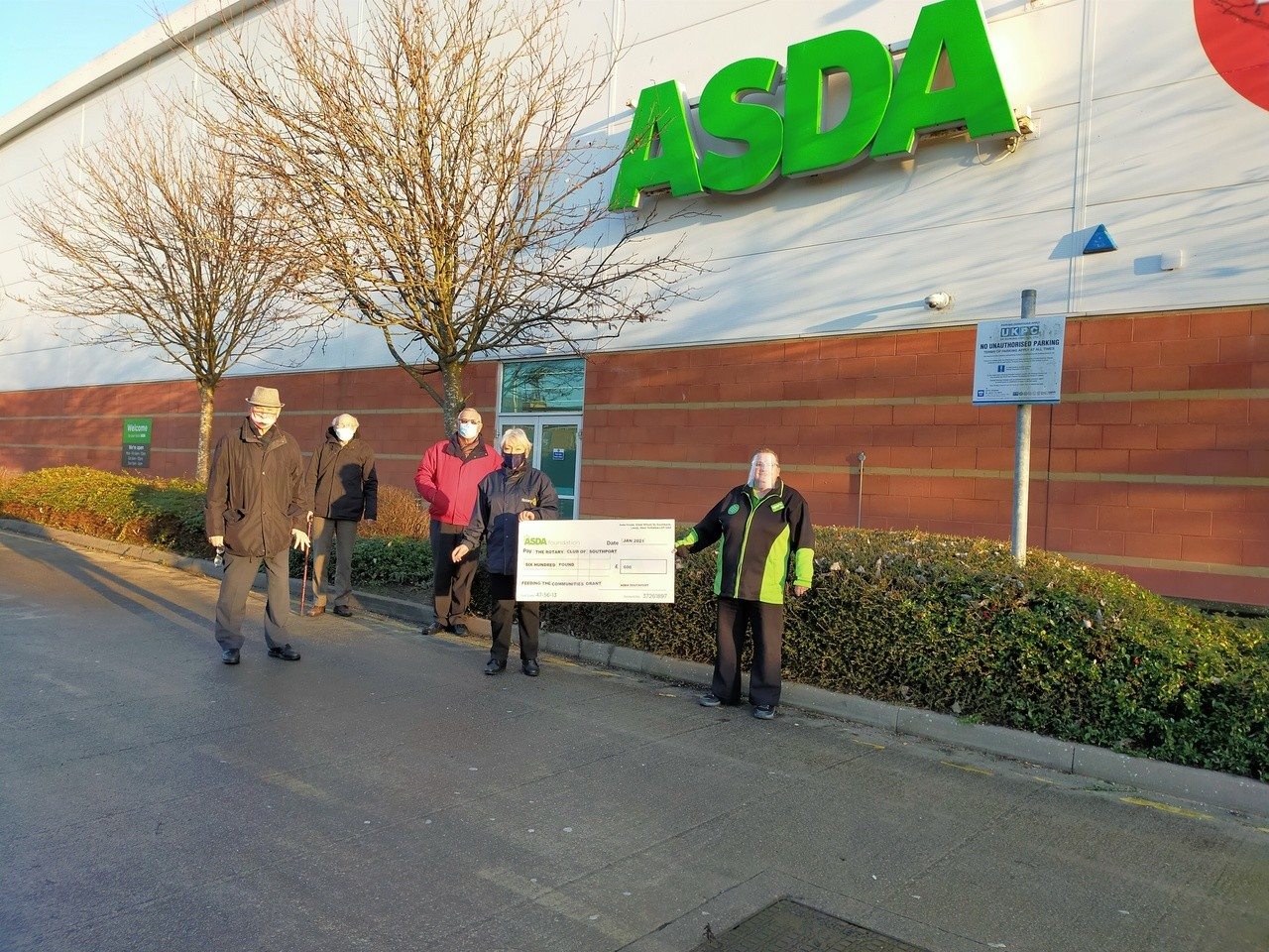 The Rotary Club of Southport grant support | Asda Southport
