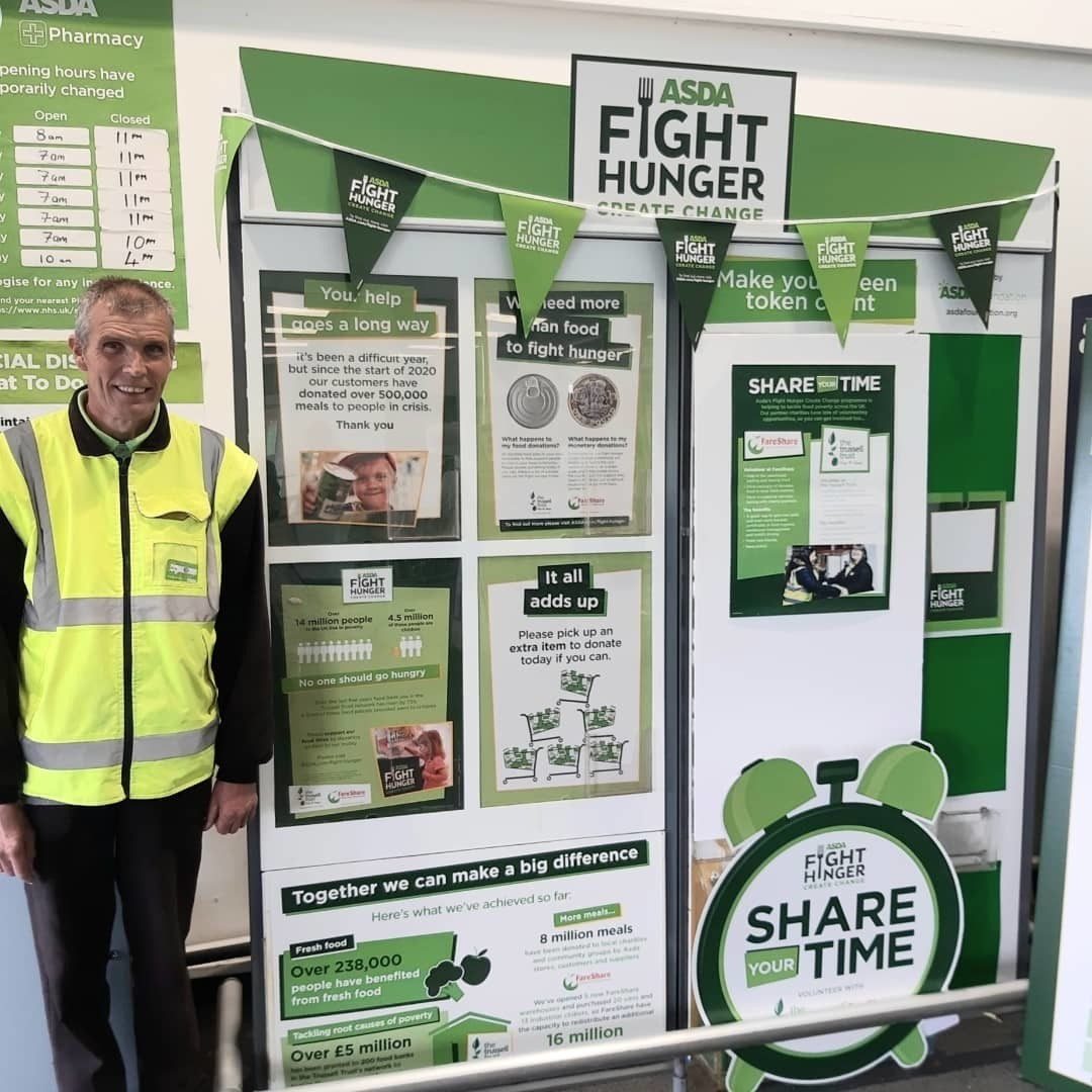 Supporting Fight Hunger Create Change | Asda Norwich