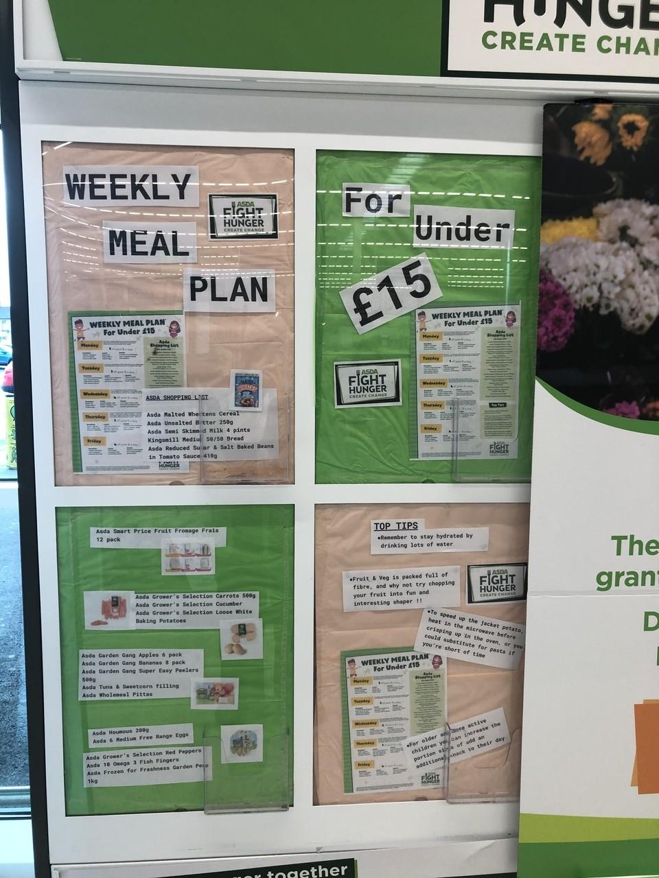 Weekly meal plan ideas | Asda Portadown