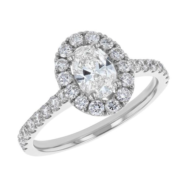 S Collection Bridal 1.38 CT. T.W. Oval Diamond Halo Ring
