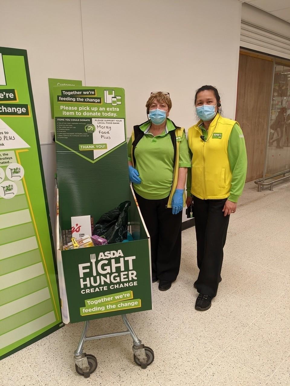 Sharon and Dina back Fight Hunger Create Change | Asda Elgin