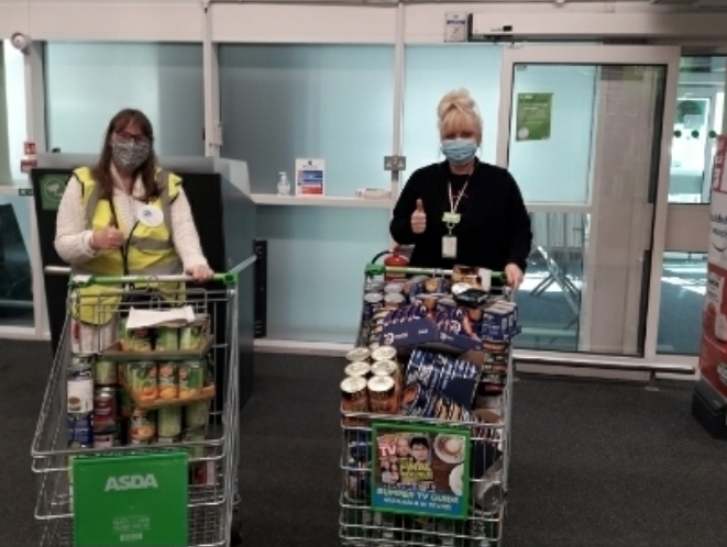 Supporting local food bank | Asda Aintree