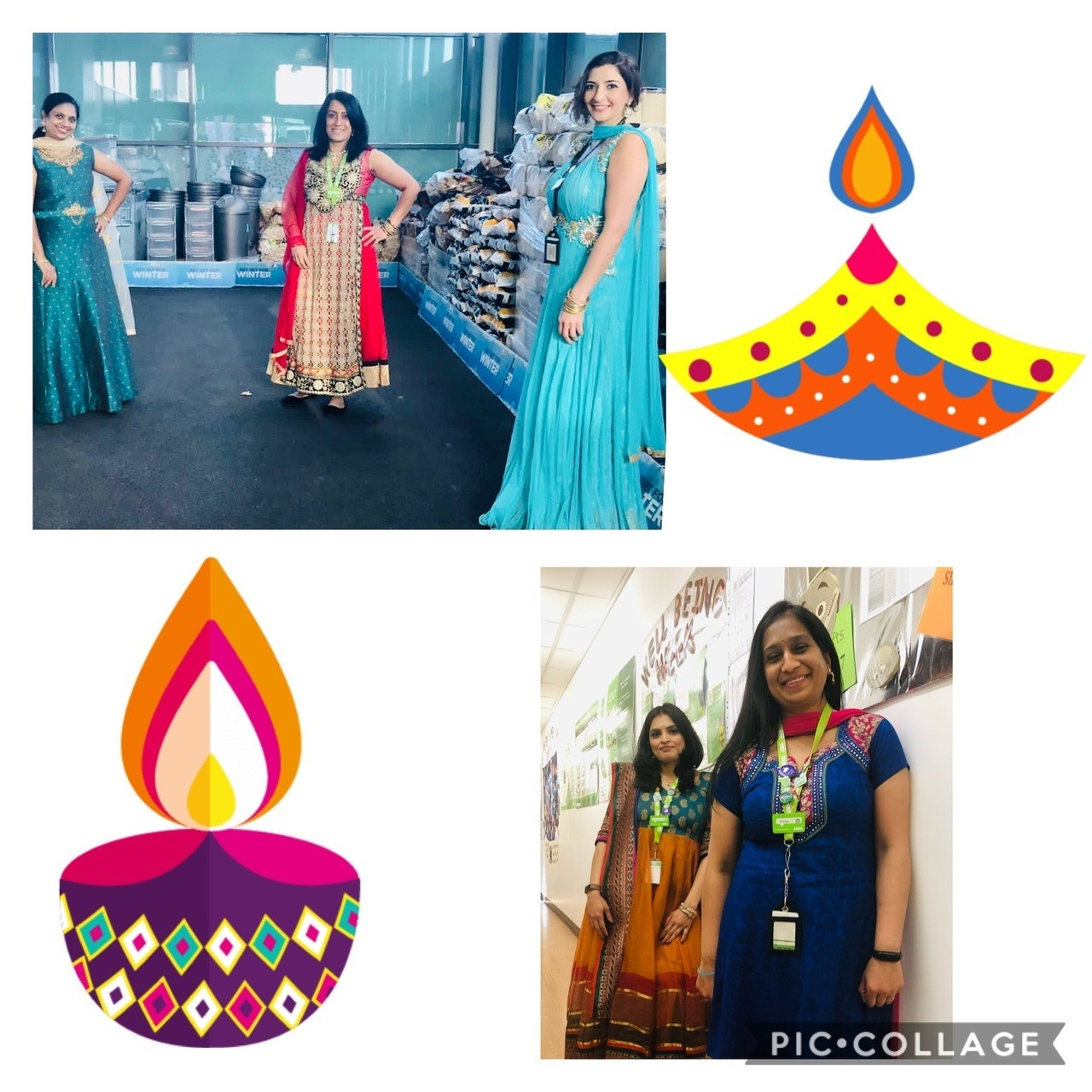 Dressing up for Diwali!  | Asda Leicester Abbey Lane