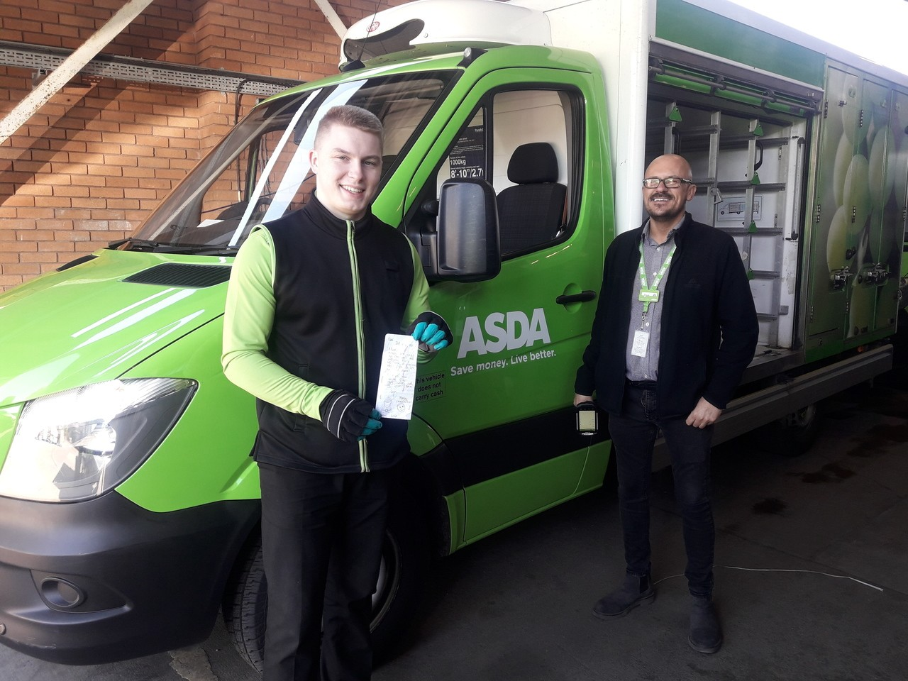 Gareth receives a lovely thank-you letter | Asda Blantyre