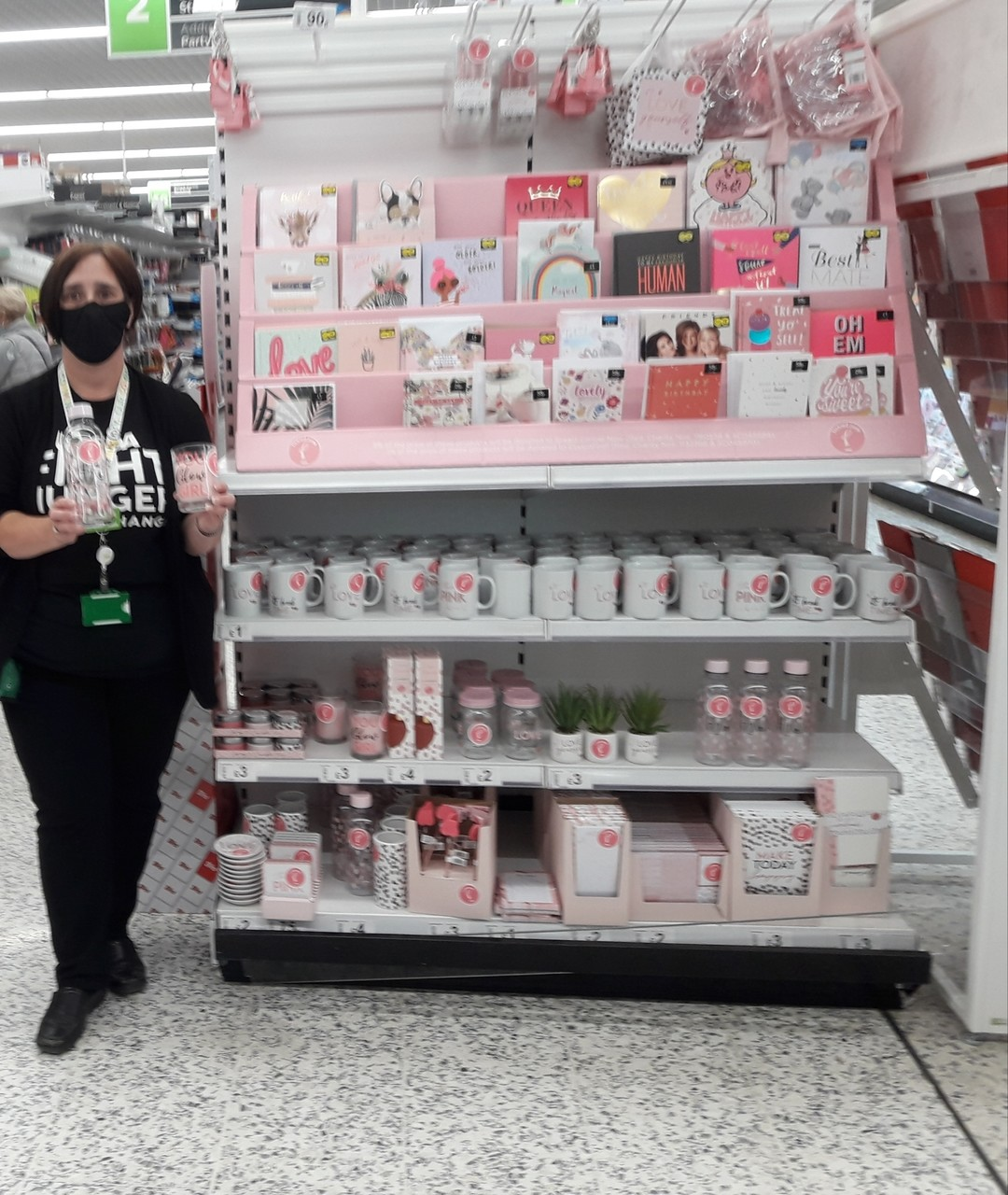 Tickled Pink support | Asda Newport