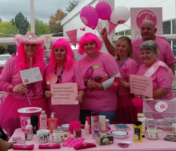 Asda Wrexham colleagues Tickled Pink
