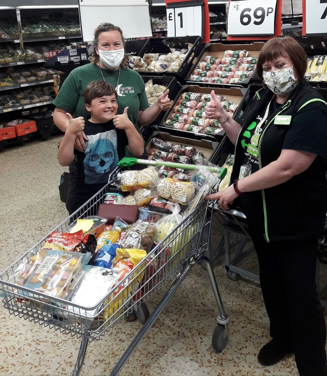 Donation of snacks for Footprints on the Moon  | Asda Cramlington