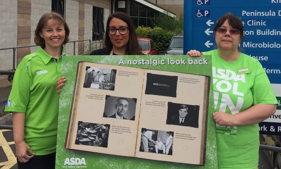 Asda community champions at the NHS's 70th birthday