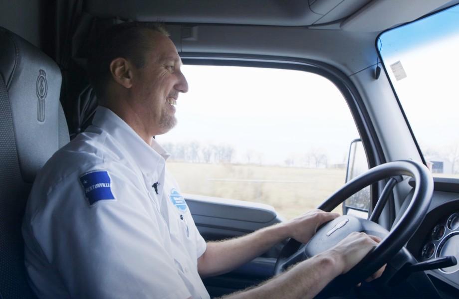 Walmart Truck Driver smiling