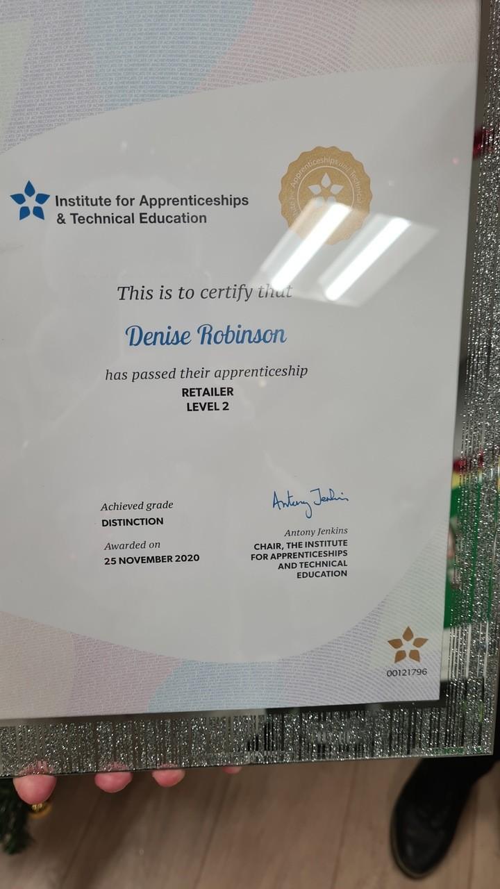 Apprenticeship success | Asda Newport Isle of Wight