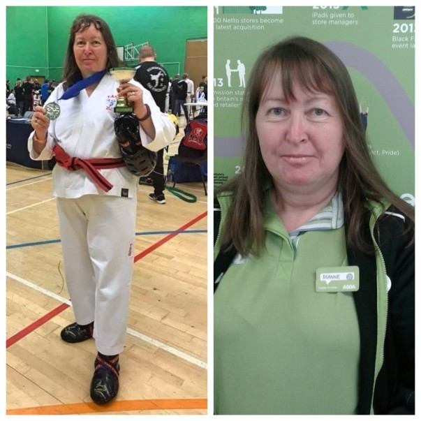 Dianne Musham from Asda Gosforth has won medals for taekwondo