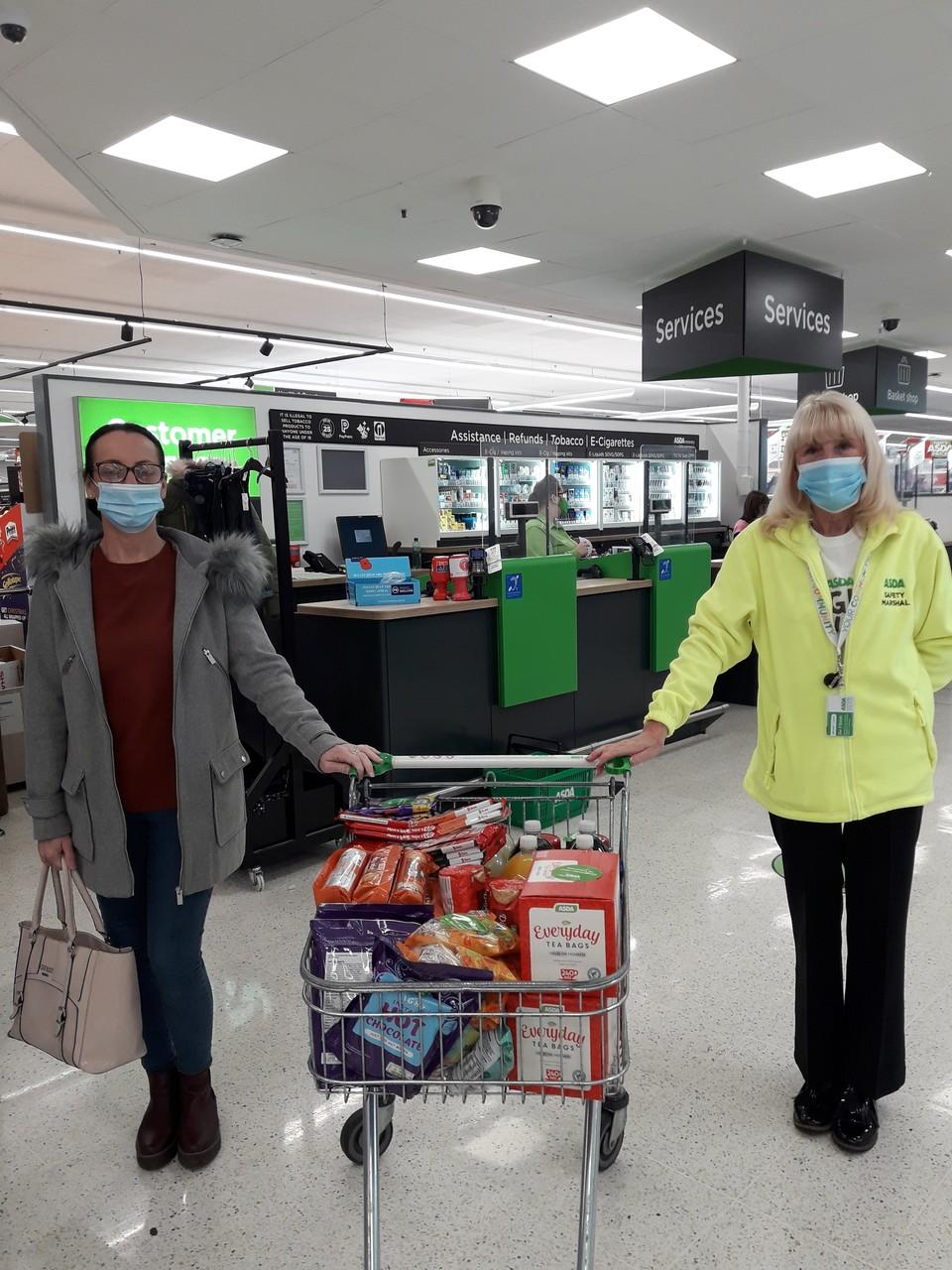 Donation to care home | Asda Leigh