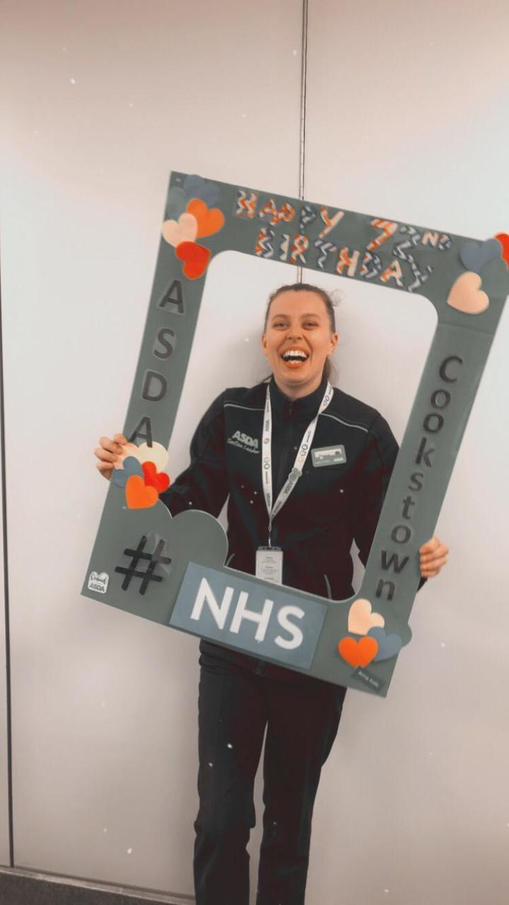 NHS 72 celebration selfie board  | Asda Cookstown