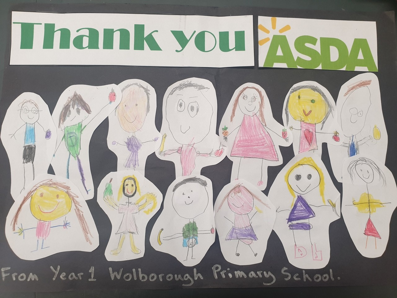 Thank you message from Wolborough Primary School | Asda Newton Abbot