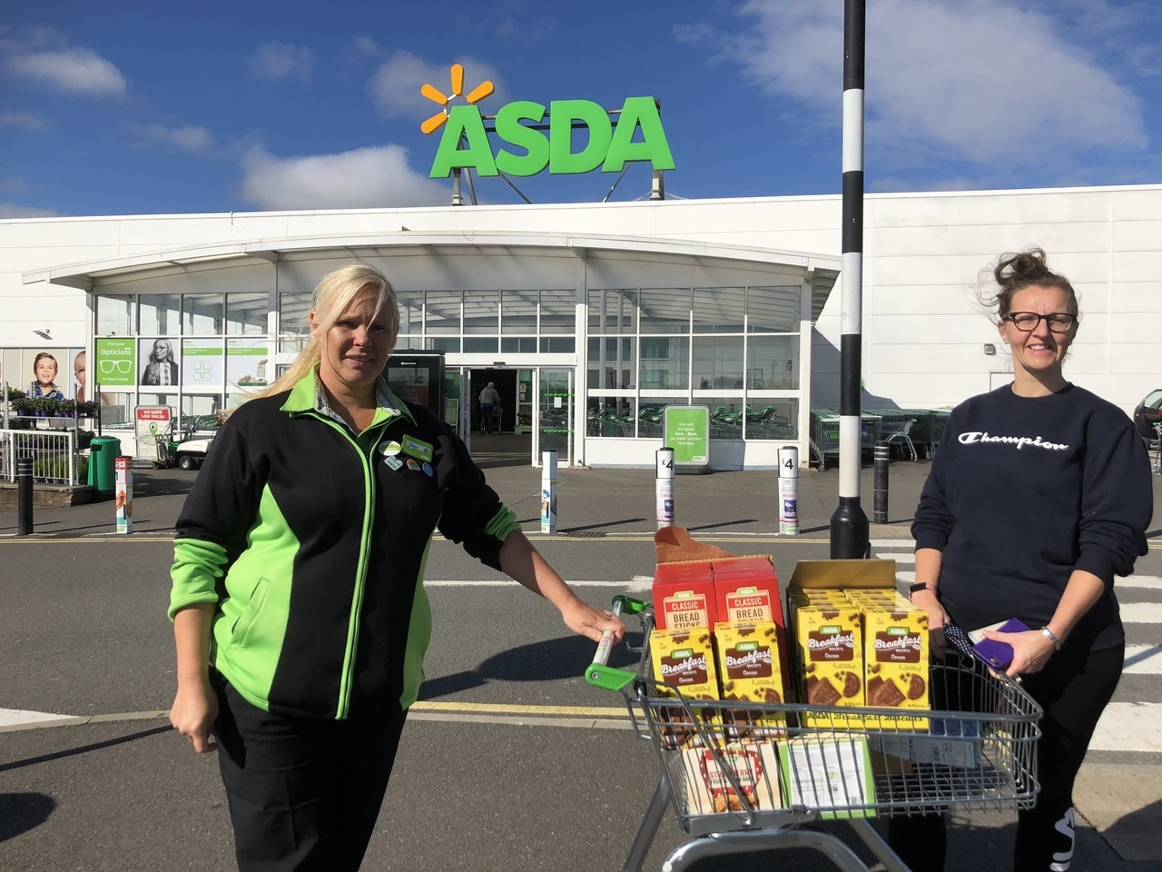 Supporting St Martin's School with a donation for their breakfast club | Asda Derby