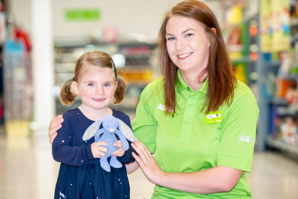 Violet is reunited with Bunny by Kay Pugh from Asda Leith