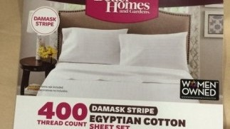 Better Homes And Gardens Damask Stripe Egyptian Cotton Sheet Set Packaging