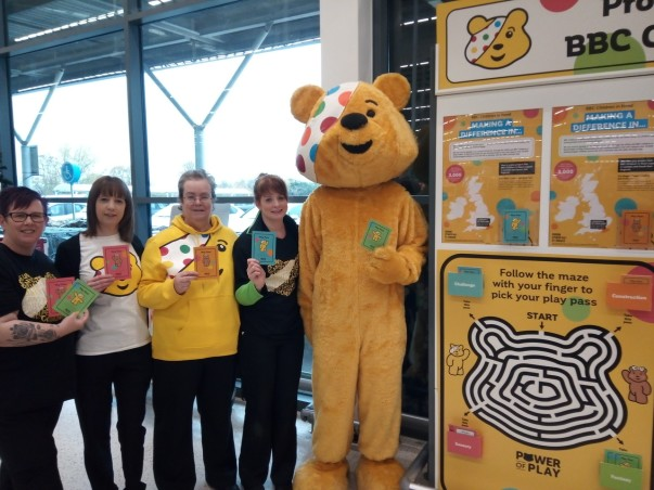 Colleagues at Asda Bury St Edmonds  raise money for Children in Need