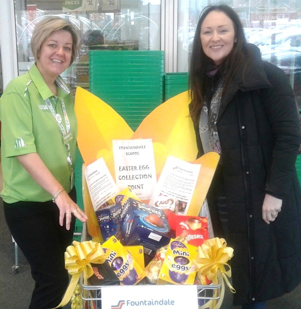 Easter egg donations at Asda Sutton in Ashfield